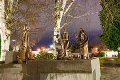 Composición escultural en cementerio Imagen de archivo