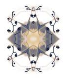 Composición estilizada del gráfico de la orquídea del arte Imagen de archivo libre de regalías