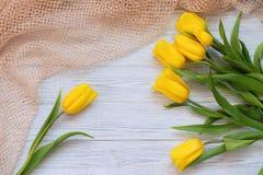 Composición festiva de la primavera Endecha plana Foto de archivo