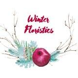 Composición florística de la acuarela del vector libre illustration
