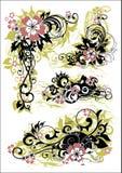 Composición floral ilustración del vector