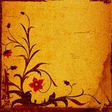 Composición floral de Grunge Fotos de archivo