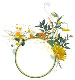 Composición floral de Grunge Fotografía de archivo