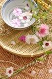 Composición floral del balneario imagen de archivo