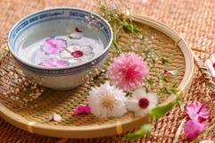 Composición floral del balneario Imágenes de archivo libres de regalías