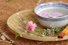 Composición floral del balneario imagen de archivo libre de regalías