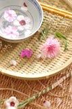 Composición floral del balneario foto de archivo