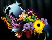Composición floral del vector Imagen de archivo