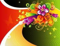 Composición floral del vector Fotos de archivo libres de regalías