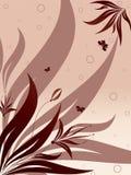 Composición floral del vector con tres mariposas fotos de archivo libres de regalías