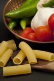 Composición gastronómica italiana Fotografía de archivo libre de regalías