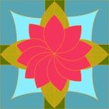 Composición geométrica el ejemplo de la flor elegante imagenes de archivo