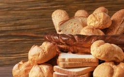 Composición hermosa con la variedad de pan Foto de archivo