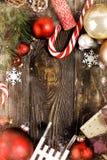 Composición hermosa de la decoración de la Navidad Fotos de archivo