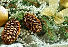 Composición hermosa de la Navidad Imagen de archivo libre de regalías