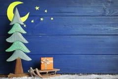 Composición hermosa de la Navidad en fondo foto de archivo libre de regalías