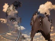 Composición humana surrealista libre illustration