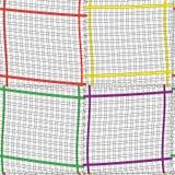 Composición inconsútil con el fram colorido del rectángulo Fotos de archivo