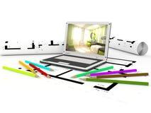 Composición interior abstracta Imagen de archivo libre de regalías