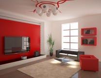 Composición interior roja Fotografía de archivo