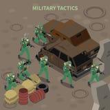 Composición isométrica de las táctica militares libre illustration