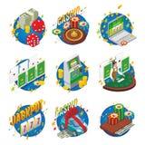 Composición isométrica del casino stock de ilustración