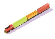 Composición isométrica del tren de Freightliner Imagen de archivo