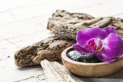 Composición natural del zen para el tratamiento del balneario Fotografía de archivo libre de regalías