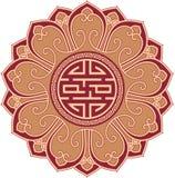 Composición oriental de la cruz gamada de la flor stock de ilustración