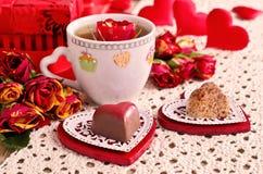 Composición para el día de tarjeta del día de San Valentín Fotografía de archivo