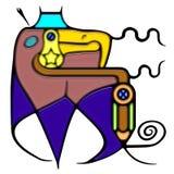 Composición pictográfica del espiral de la palabra Imagen de archivo libre de regalías