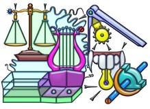 Composición pictográfica del sustantivo de balanceo Fotos de archivo libres de regalías