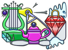Composición pictográfica del sustantivo de la lenteja Fotografía de archivo libre de regalías