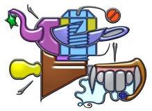 Composición pictográfica del sustantivo de la nuez Imagen de archivo libre de regalías