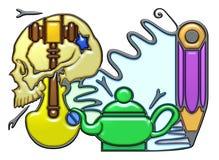 Composición pictográfica del sustantivo 3 del metal Foto de archivo libre de regalías
