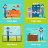 Composición plana de Cleaning Company libre illustration