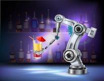 Composición realista del brazo robótico