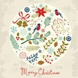 Composición redonda de la Navidad Foto de archivo libre de regalías