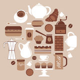 Composición redonda del café Fotografía de archivo libre de regalías