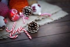 Composición retra de la Navidad Foto de archivo