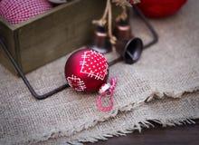 Composición retra de la Navidad Fotos de archivo libres de regalías