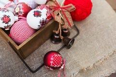 Composición retra de la Navidad Fotografía de archivo