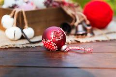 Composición retra de la Navidad Fotografía de archivo libre de regalías