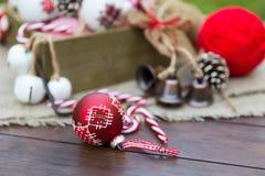 Composición retra de la Navidad Imagen de archivo libre de regalías