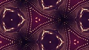 Composición roja compleja de las partículas que forman las células 3d colocó la animación alisada de las partículas con un efecto almacen de video