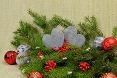 Composición romántica de la Navidad Fotos de archivo libres de regalías