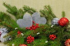 Composición romántica de la Navidad Imágenes de archivo libres de regalías