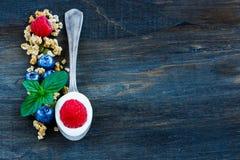 Composición sana del desayuno Fotografía de archivo