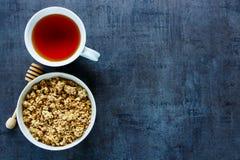 Composición sana del desayuno Fotografía de archivo libre de regalías