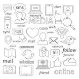 Composición social de los iconos de la red libre illustration